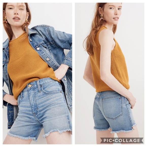 4306defbdd Madewell Shorts | Perfect Jean Short Step Hem Edition | Poshmark